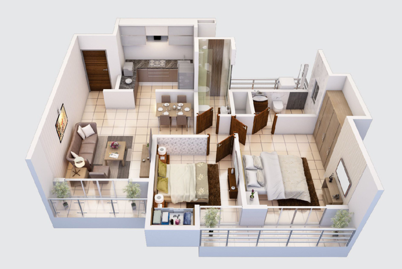 1 bhk flat in patlipada thane