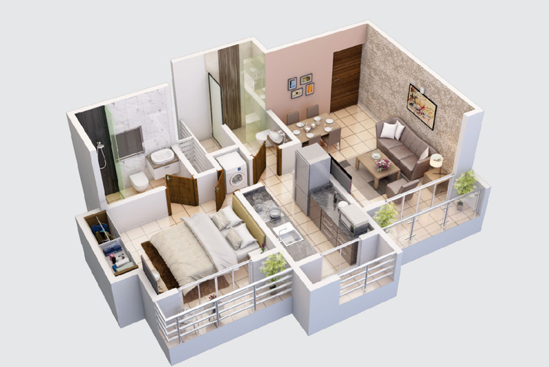 2 bhk flat in ghodbunder thane